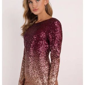 Perfectly pink sequins dress
